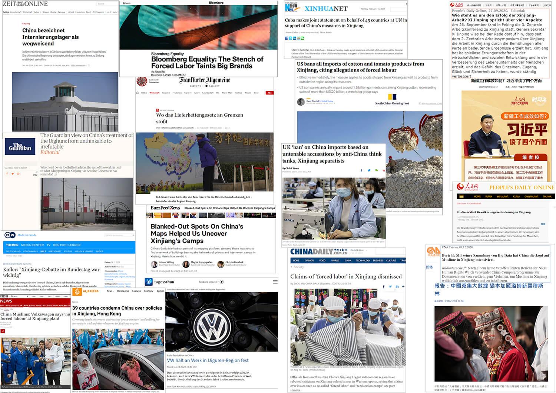 Zeitungsartikel Xinjiang