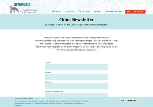Urgewald: China und Infrastruktur