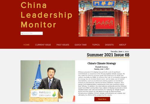 China Leadership Monitor