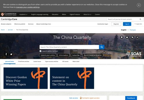The China Quarterly
