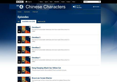 Chinese Characters - Wichtige Persönlichkeiten der chinesischen Geschichte