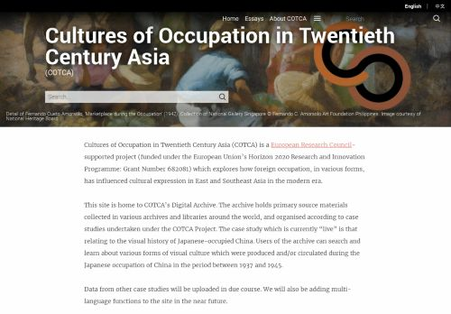 Cultures of Occupation in Twentieth Century Asia Project
