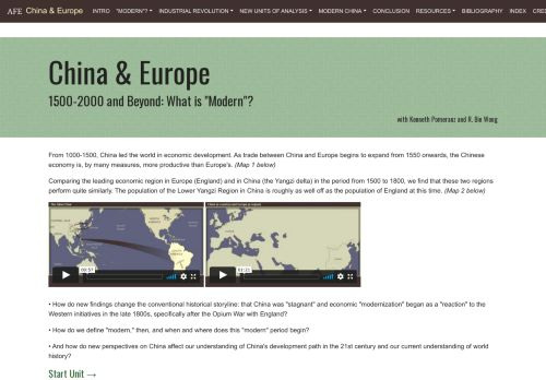Asia for Educators: China & Europe: What is Modern?