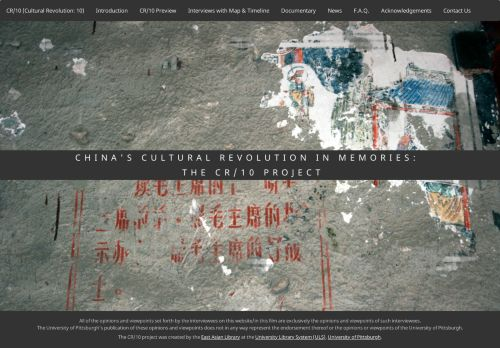 China's Cultural Revolution in Memories