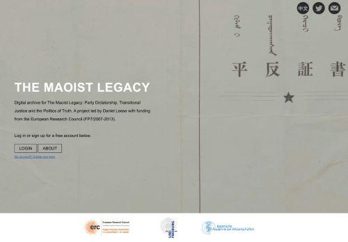 Maoist Legacy Database