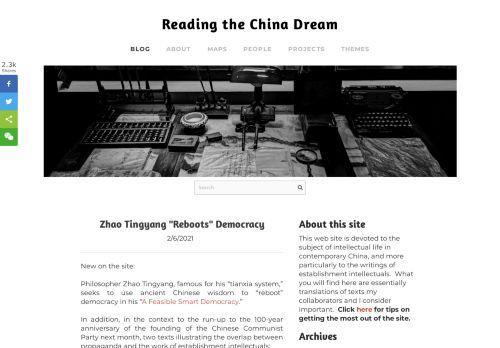 Reading the China Dream