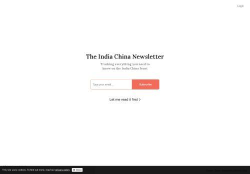 India China Newsletter