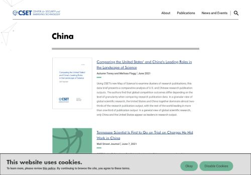 Center for Security and Emerging Technology: China