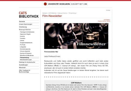 Film und TV Newsletter der CATS Bibliothek