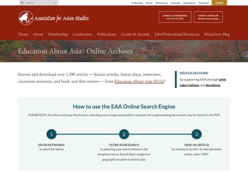 Association for Asian Studies: Education about Asia