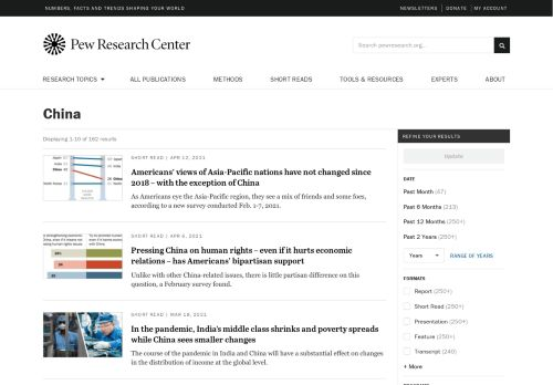 Pew Research Center: China