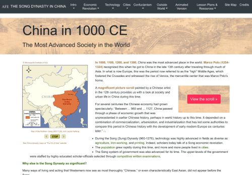 Asia for Educators: The Song Dynasty in China