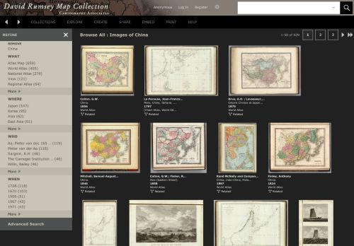 David Rumsey Map Collection: China
