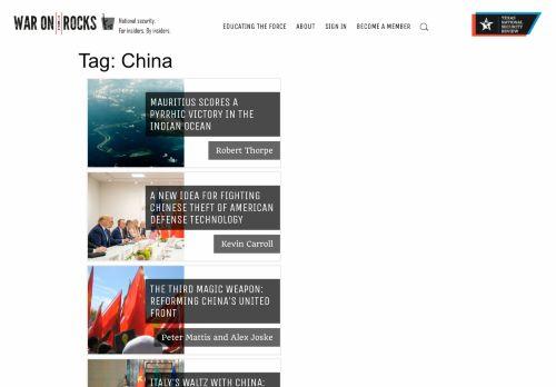 War on the Rocks: China