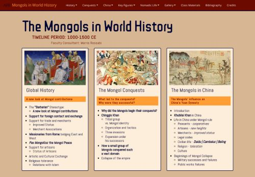 Asia for Educators: The Mongols in World History