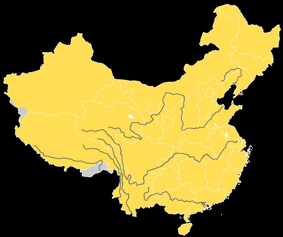 Karte der Flüsse Chinas